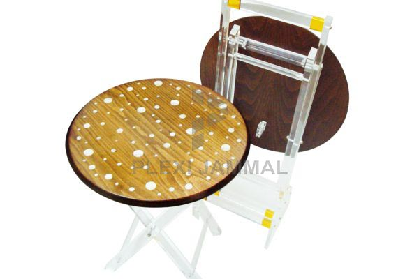 Table round mother of pearl