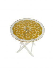 Table round star gold